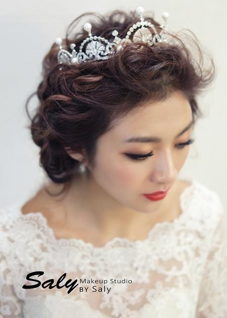 【Saly 造型總監】女王般的氣勢新娘