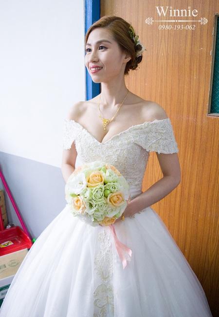 好質感精緻裝容的新娘(嘉義婚宴)