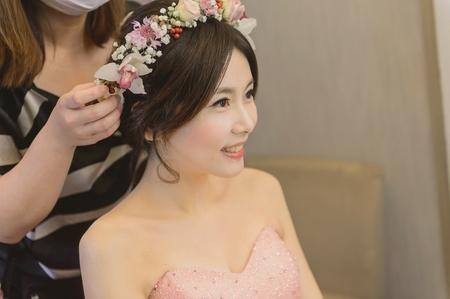 短髮新娘 甜美風鮮花花環髮型/Anna's wedding