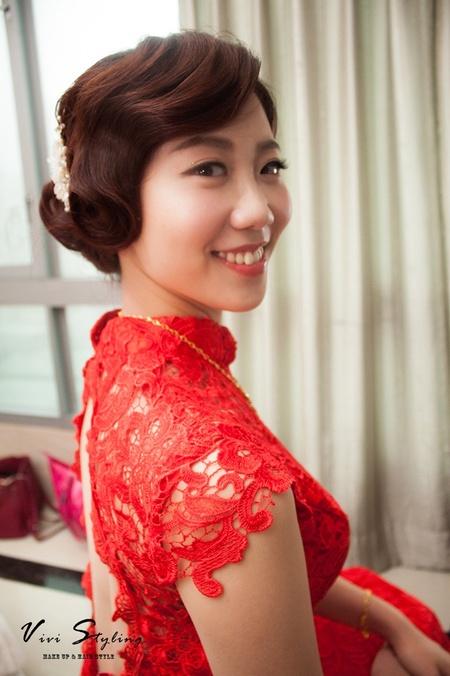 優雅氣質的新娘造型 鮮花花環造型 訂結婚五造型不同風情/雅文's wedding