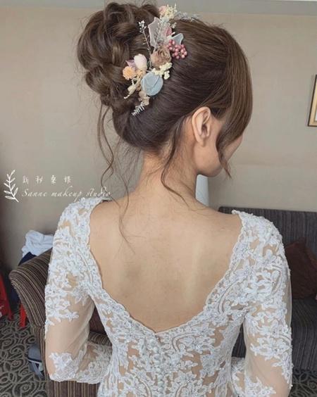 夢幻乾燥花編髮/白紗造型