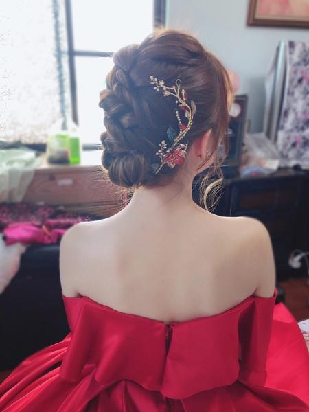 Weddingday 韓式盤髮訂結造型
