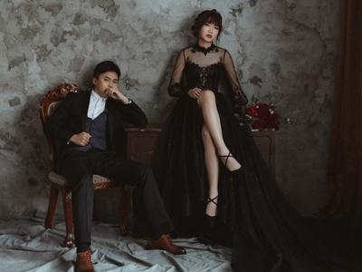 台北第九大道婚紗-華麗感爆棚的黑色系禮服