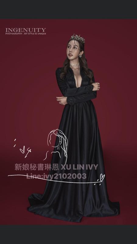 黑婚紗的美