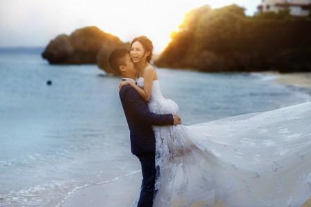 Brian❤Shirley  OKINAWA 新竹vanessa 手工婚紗。攝影工作室