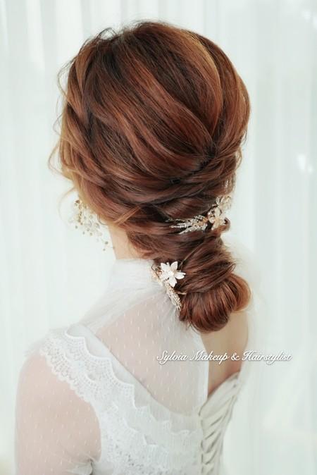 法式優雅線條盤髮