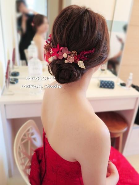 ¦§訂婚造型§¦ 紅色禮服