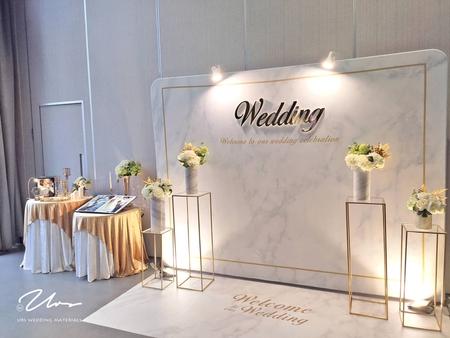 【白金大理石】主題婚禮佈置