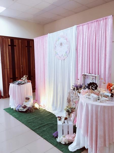 【主題拍照區】粉紅夢幻-幸福莊園 布幔式套組