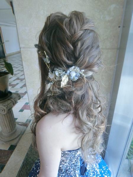 新秘rita|新娘秘書|bride-angle|好媳婦髮型|浪漫捲髮|蕾絲長頭紗