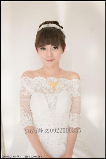 小恩結婚白紗造型