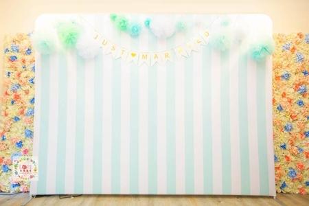 14號傘板(布式背板)套餐❤糖果小舖-清新Tiffany白(全省可寄)