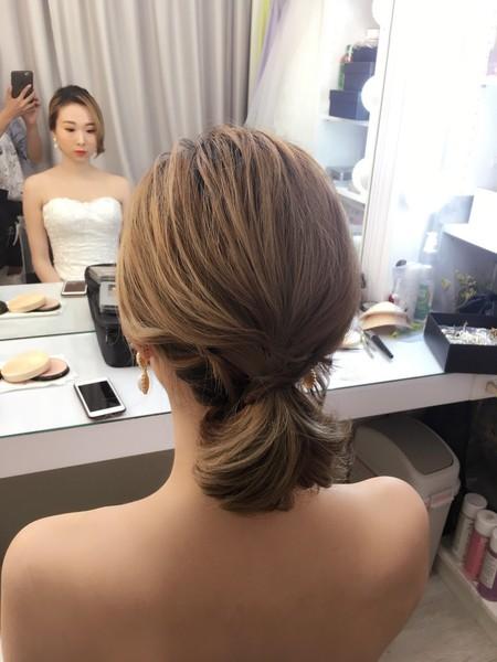 饅頭爸新秘團隊–芯媛❤短髮新娘婚紗拍照
