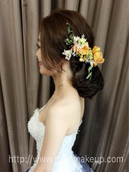 中短髮不接髮新娘