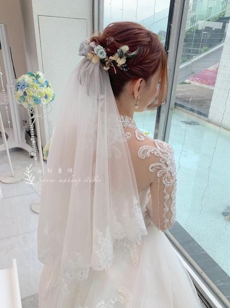 證婚-花飾編髮