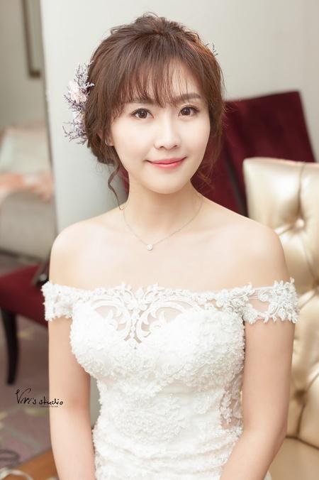 中式禮服龍鳳掛+氣質優雅盤髮造型