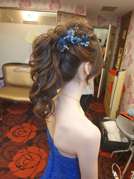 新秘rita|新娘秘書|bride-星星|高馬尾|盤髮|線條感