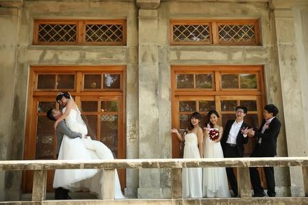 婚攝饅頭爸 | 台中女兒紅1F | 武道館外拍