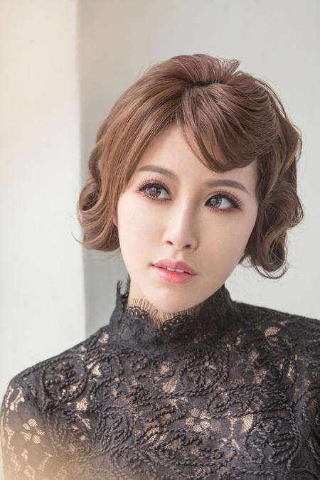 【甜橘復古女星】復古波浪/淡溫柔橘眼妝/層波浪髮型/新娘造型作品