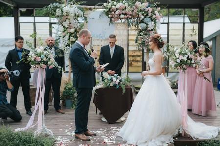 婚禮紀錄 | 高雄橋頭白屋-戶外證婚+晚宴(度比)