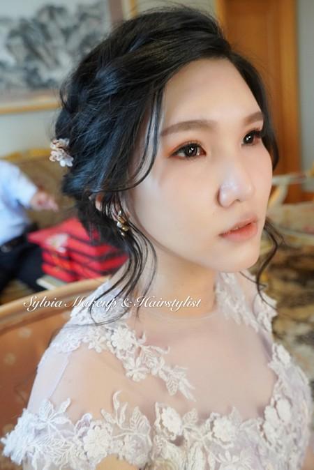 黑髮新娘-歐風慵懶編髮造型
