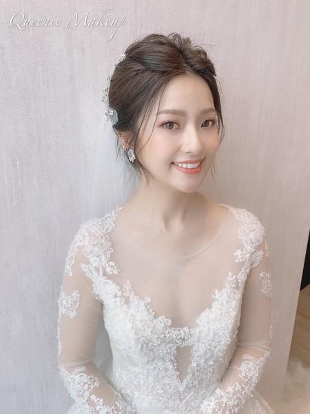 白紗乾燥玫瑰妝容
