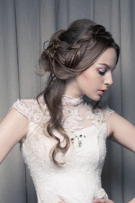 【輕蕾絲精緻特殊妝】浪漫微捲髮型/裸紗妝容/新娘秘書/新娘造型作品