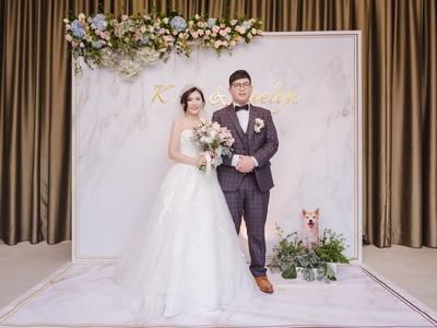 高C/P值全鮮花婚禮佈置&擬真寵物立牌