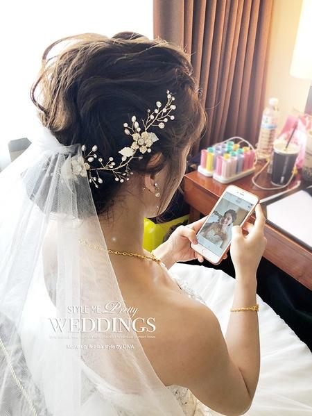 俏麗短髮的新娘別擔心 diva依然會完成妳們的女神夢