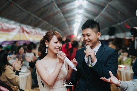 婚禮紀錄 | 台南安平咖啡廳-證婚+流水席(度比)