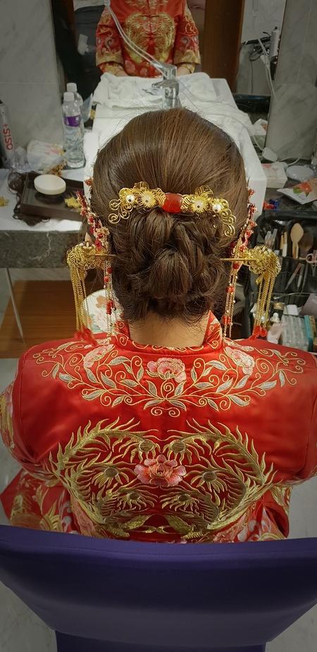 新秘rita|新娘秘書|bride-竹平|中式|龍鳳掛|白紗造型|盤髮
