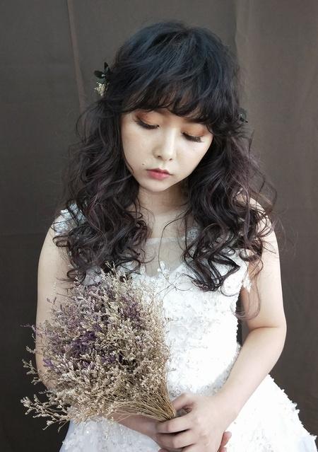 浪漫風新娘造型
