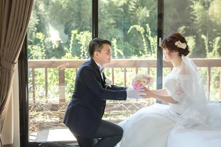 桃園大溪羅莎會館戶外證婚--迎娶午宴