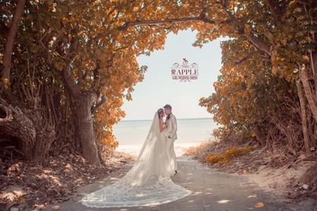愛Apple x GIRL Wedding手作婚紗 沖繩婚紗