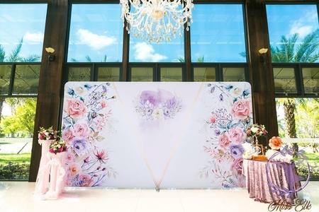 【婚禮背板套組出租】浪漫花園