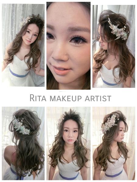 RITA綜合作品 白紗造型 盤髮 線條感 浪漫捲髮 低馬尾 側邊捲髮 編髮