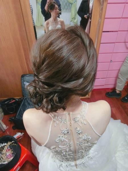 新秘rita|新娘秘書|bride|盤髮造型|訂婚造型