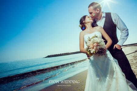 💙台南婚紗攝影-外國新人婚紗照推薦-伊頓自助婚紗💙