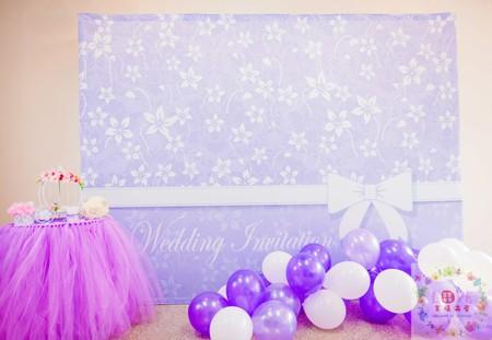 3號傘板(布式背板)套餐❤Princess Purple-全省可寄送