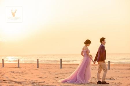 浪漫粉嫩夕陽風