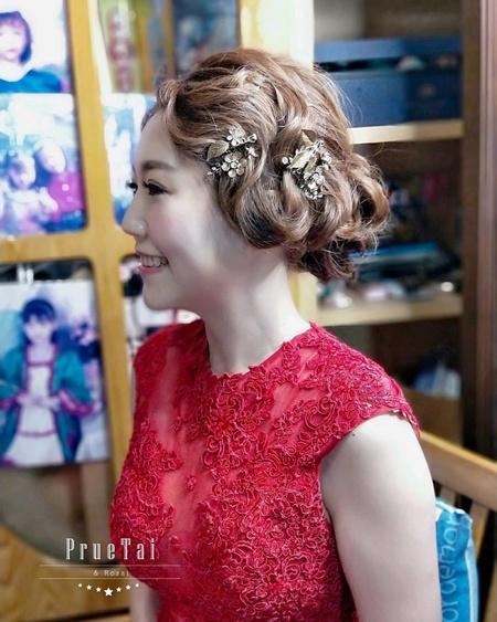 10/12 訂婚儀式新娘指定髮型
