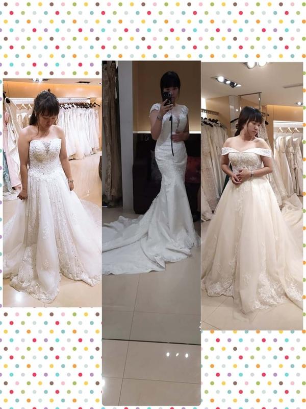 比堤婚紗 推薦新人:Mr. Lo&Mrs. Weng 挑選白紗