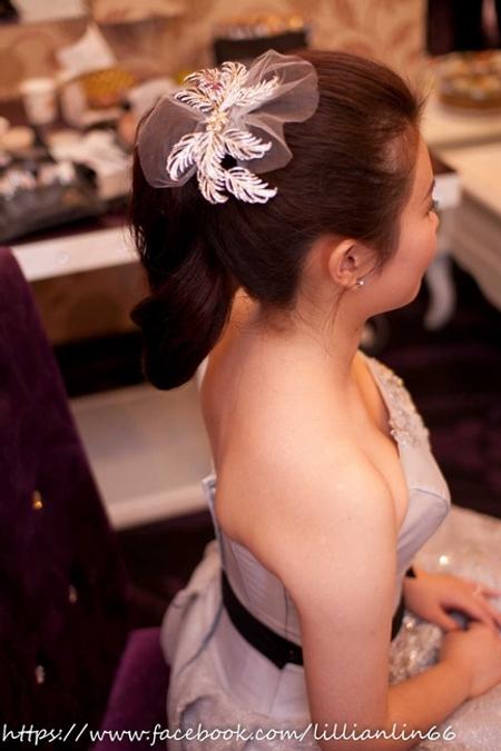 Bride~佳慧 日系魚骨編與自然的高馬尾,可愛小公主