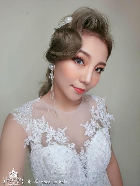 夢幻城堡彩妝造型-新秘蓁妮-新娘造型創作