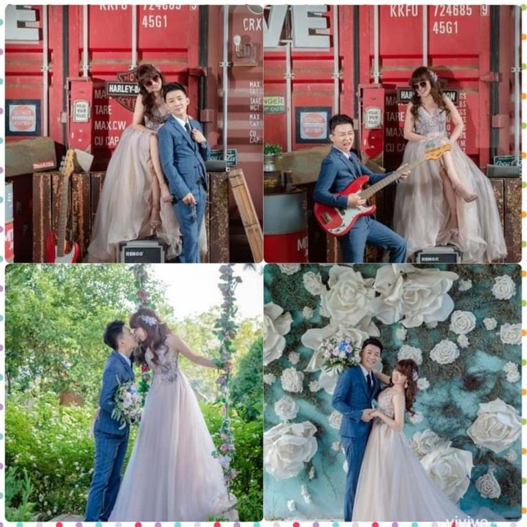 比堤婚紗 推薦新人:Mr. Lo&Mrs. Weng 設計款晚禮服
