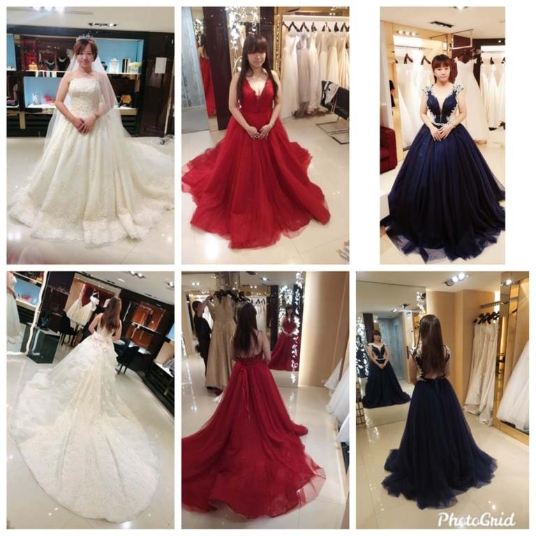 比堤婚紗 推薦新人:Mr. Lo&Mrs. Weng 挑選宴客禮服