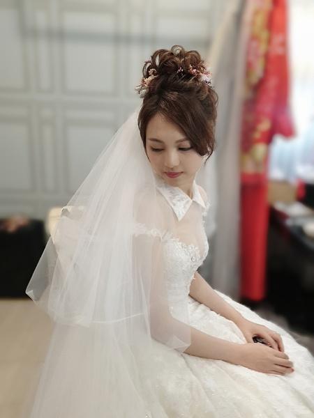 新秘rita|新娘秘書|bride-杜杜|中式|龍鳳掛|群掛|丸子頭|群掛造型