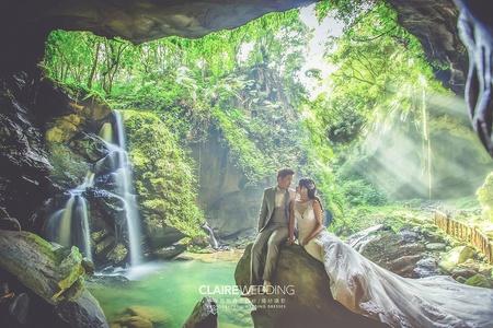 仙境般~蝙蝠洞秘境婚紗照 攝影:游頭