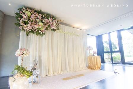 台中与月樓紗幔鮮花婚禮佈置