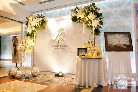 台中林酒店海洋廳雙角花藝